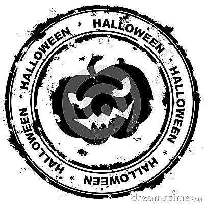 De zegel van Halloween.