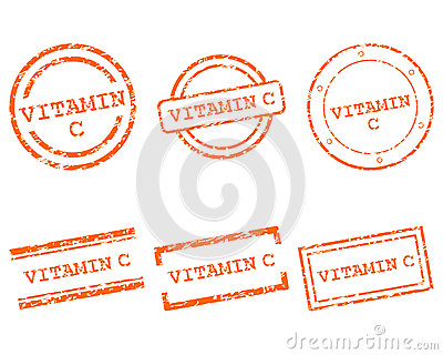 De zegels van de vitamine C