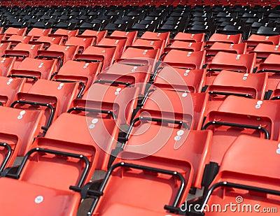 De zetels van toeschouwers