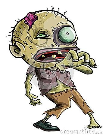 De Zombie die van het beeldverhaal een het grijpen beweging maken