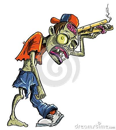 De zombie die van het beeldverhaal pizza leveren