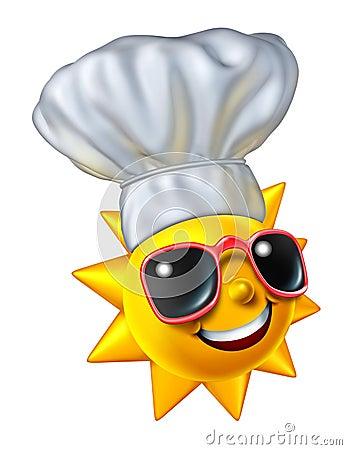 De zomer het Koken