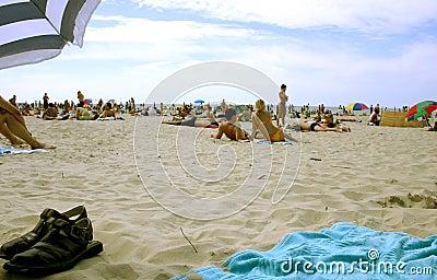 De zomer op het strand