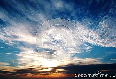De Zonsondergang van de Baai van Morecambe