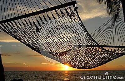 De Zonsondergang van de hangmat