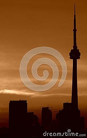 De zonsondergang van Toronto Redactionele Afbeelding