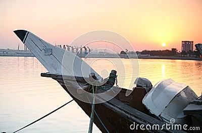 De zonsopgang van Doha