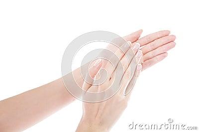 De zorg van de hand