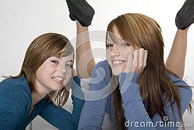 De zusters van de tiener