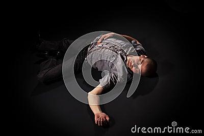 Dead Body Lying On Floor Royalty Free Stock Image Image