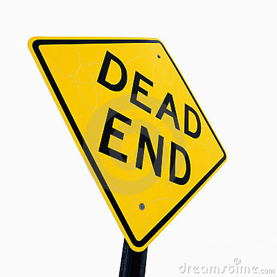 Dead End sign.
