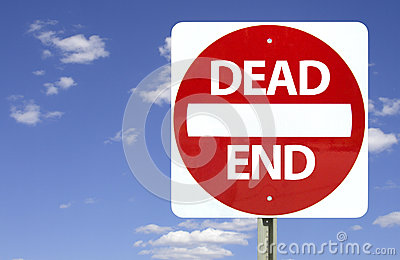 Dead end sign,
