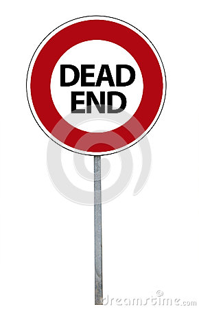 Dead end sign, isolated