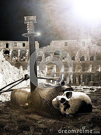 Dead gladiator
