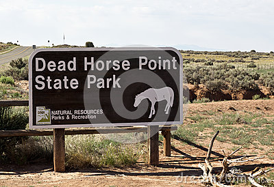 Dead Horse Point State Park sign