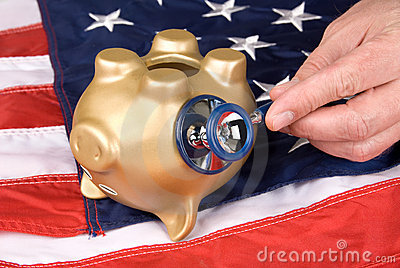 Dead piggy bank in tough economic times