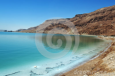 The Dead Sea coastline