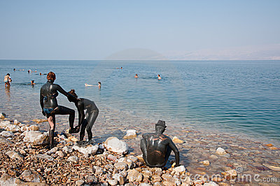 Dead Sea Mud Lovers Editorial Photo