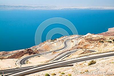 Dead sea road area, curvy highway
