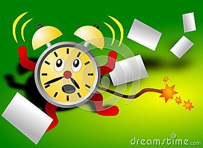 Deadline scared alarm clock