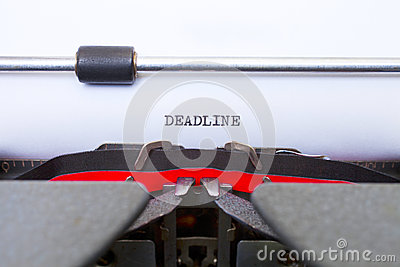 Deadline Typed on Vintage Typewriter