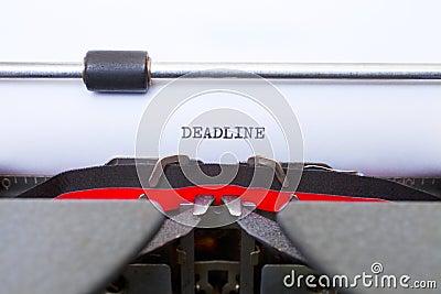 Deadline Typed on Vintage Typewriter