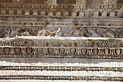 Deail van Hadrian Tempel, Ephesus