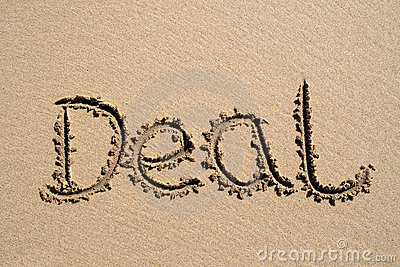 Deal, written on a beach