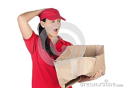 Dealer scared for having damaged the box