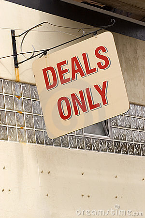 Deals only sign