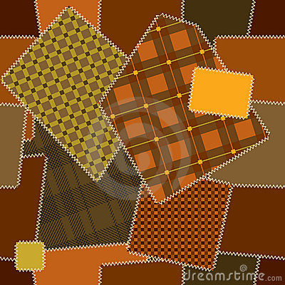 Deamless pattern of quilt patchwork