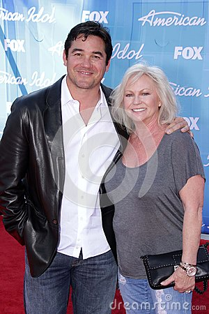 Dean Cain and mom Editorial Photo