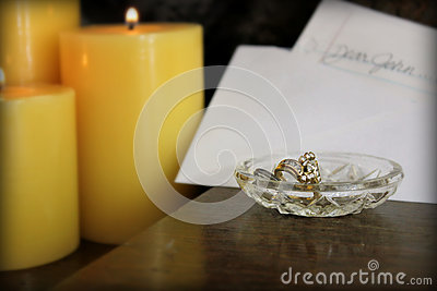 Dear John letter with ring