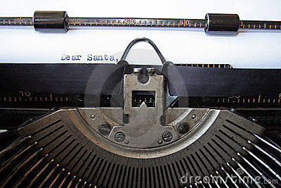 Dear Santa letter typewritten