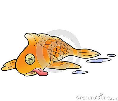 Cartoon Dead Fish