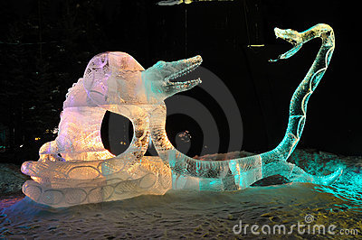 Death Grip Ice Sculpture Editorial Image