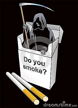 Death inside a cigarette pack