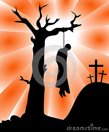 The Death of Judas Iscariot Silhouette