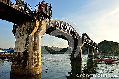 Death Railway Bridge Editorial Photo