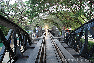 The Death Railway Bridge over Kwai river Editorial Image