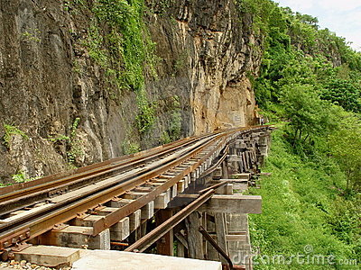 Death Railway near Krasae Cave.
