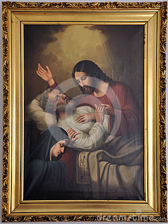 The Death of St. Joseph Editorial Stock Image