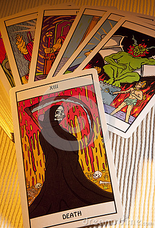 Tarot Cards - Death Prediction Editorial Stock Image