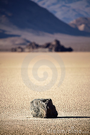 Free Death Valley Rock On Lake Bed Royalty Free Stock Photos - 16326058