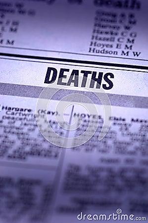 Deaths Notice