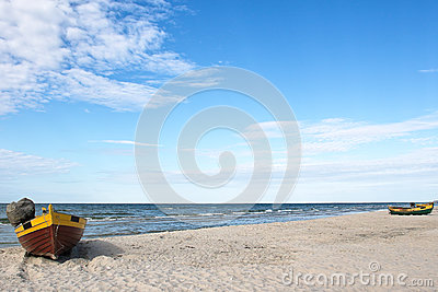 Debki, beach in poland