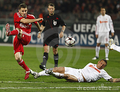 Debrecen Vs Liverpool UEFA Champions League Match Royalty Free Stock Images - Image: 12000079
