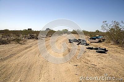 Debris Strewn Road