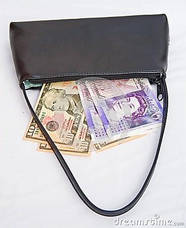 Debt collector s bag.