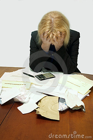 Free Debt Despair Royalty Free Stock Images - 3042719